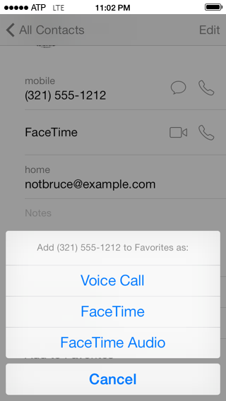 Use that number for voice calls